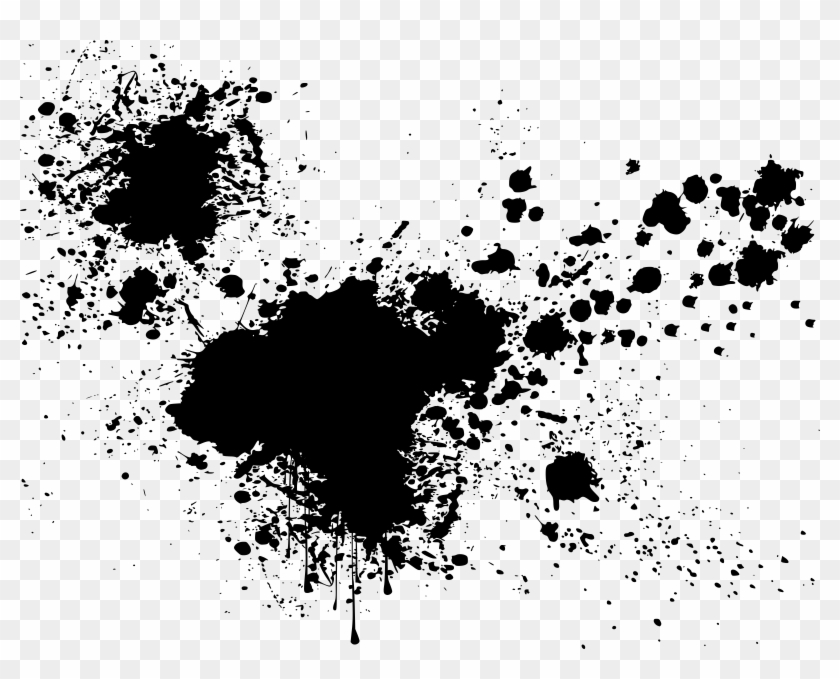 Graffiti Clipart Ink Splatter - Paint Splash Black And White