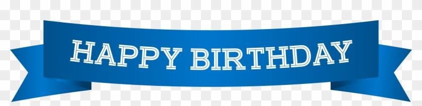 Happy Birthday Banner Blue Png Clip Art Image Happy Birthday
