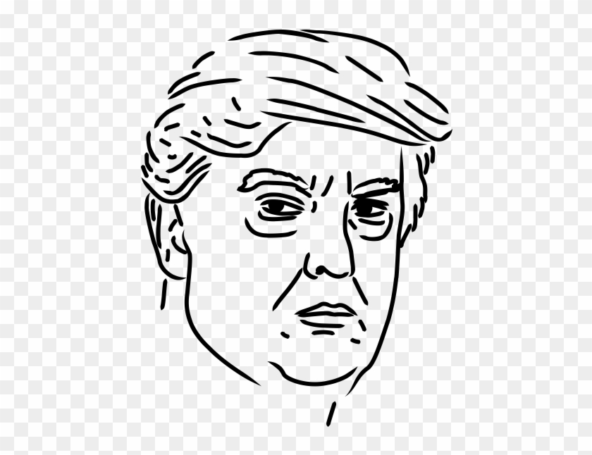 photograph about Donald Trump Mask Printable named Donald Trump Rubber Stamp - Sketch, High definition Png Down load