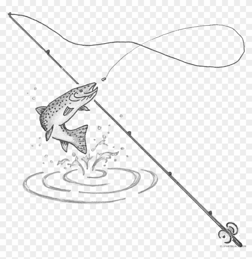 Fishing Pole Clipart Fishing Pole With Fish Hd Png Download 1264x1240 1041392 Pinpng