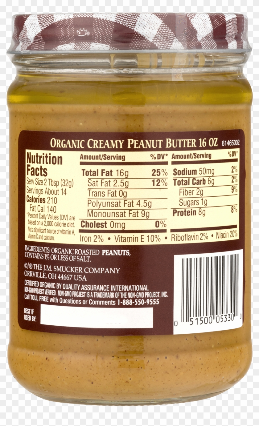 Organic Creamy Peanut Butter, 16 Oz