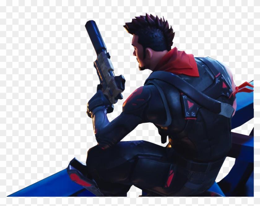 Sitting With A Gun Fortnite Thumbnail Template - Fortnite