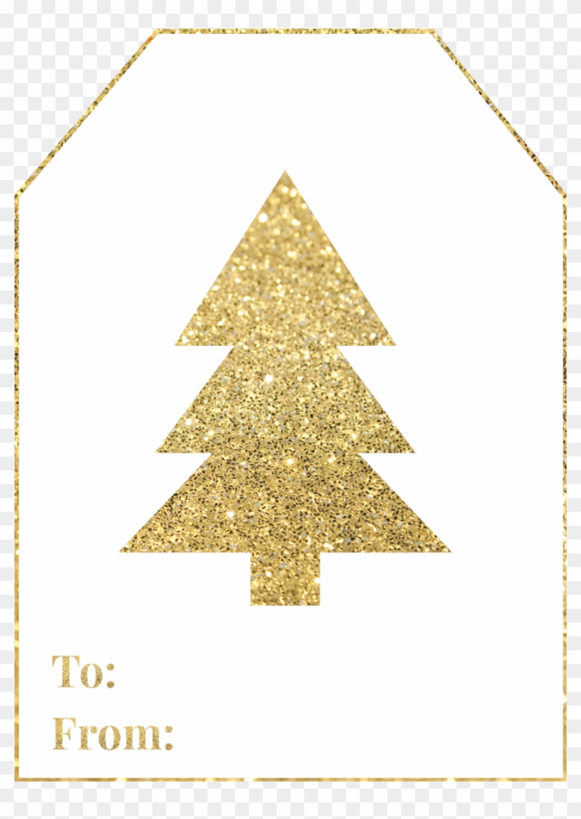 photo about Free Printable Gift Tags Christmas named Gold Xmas Tree Free of charge Printable Reward Tag - Delighted Vacations