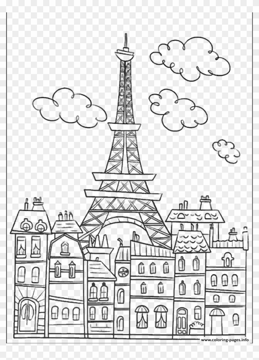 Printable Eiffel Tower Coloring Pages For Kids | 1167x840