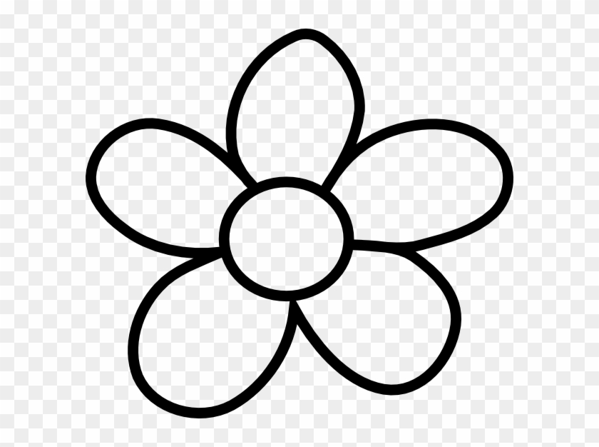 Black Flower Outline Simple Flower Drawing Png Transparent Png 600x546 130088 Pinpng