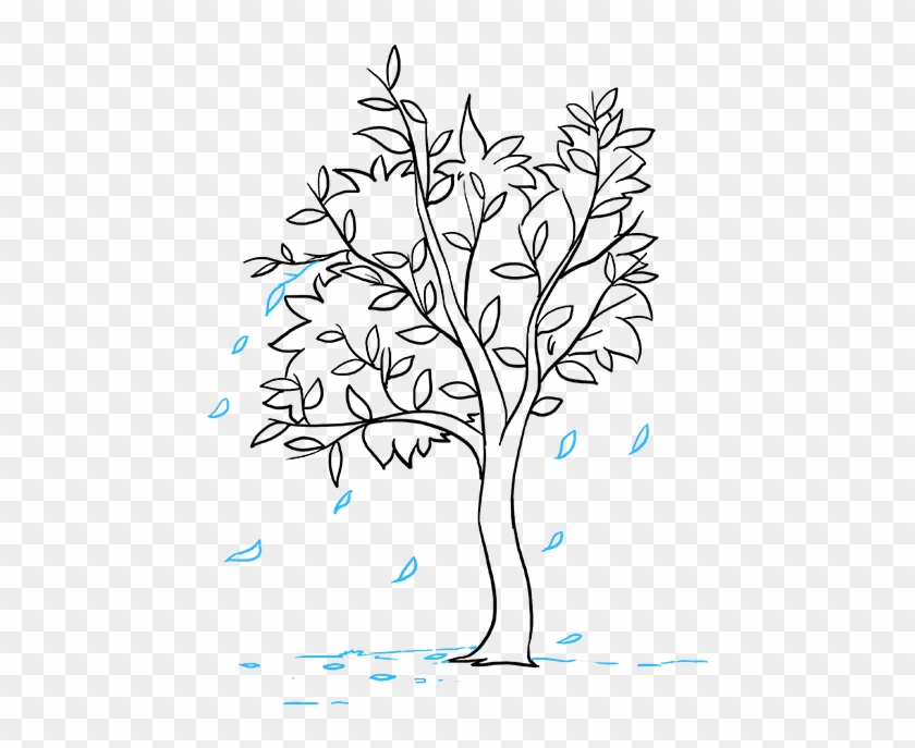 How to draw an easy tree