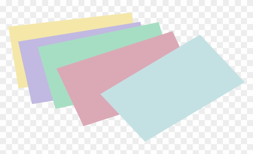 Free Stack Of Unlined Colored Index Cards - Index Card