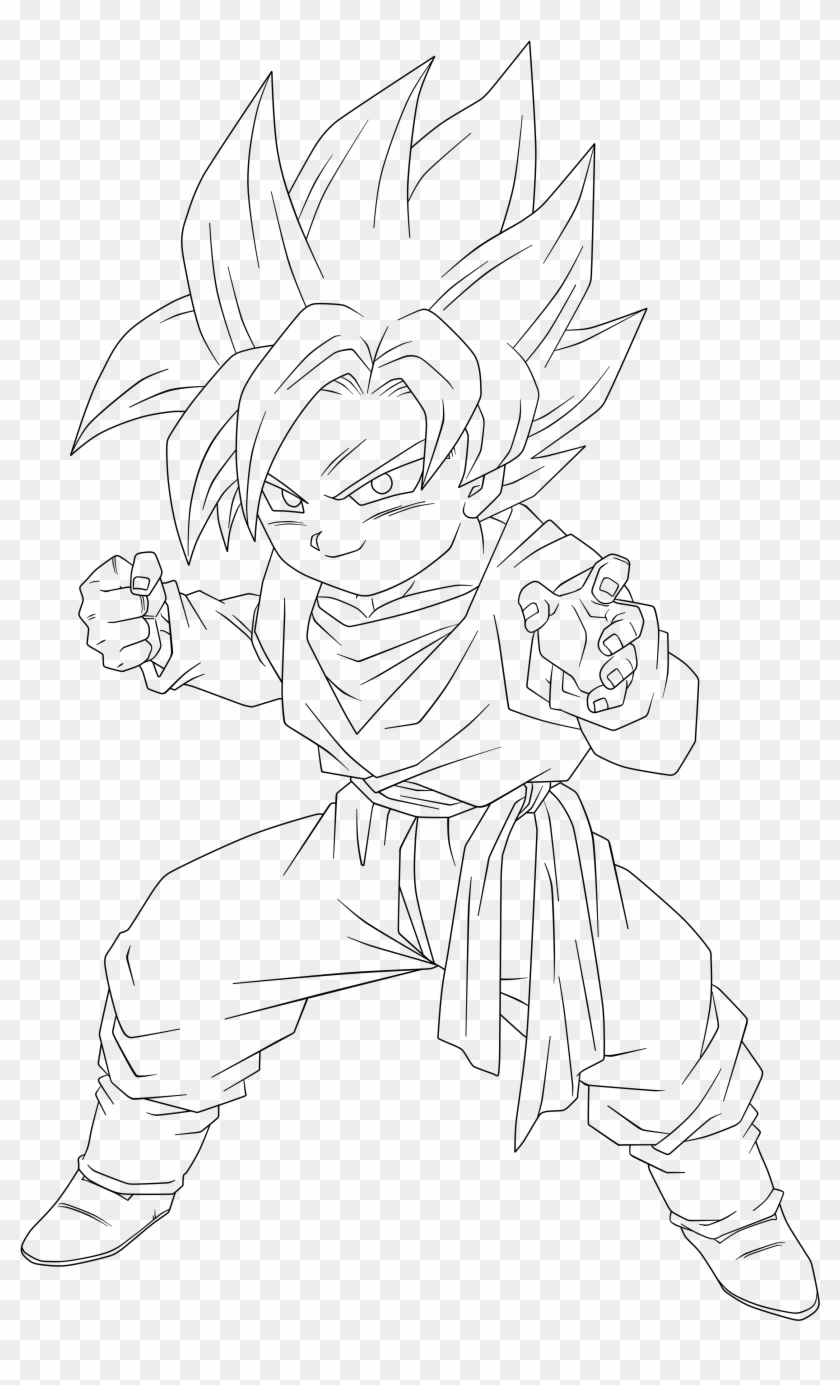 Dragon Ball Z Goten Coloring Pages With 36739 Full - Goten ...