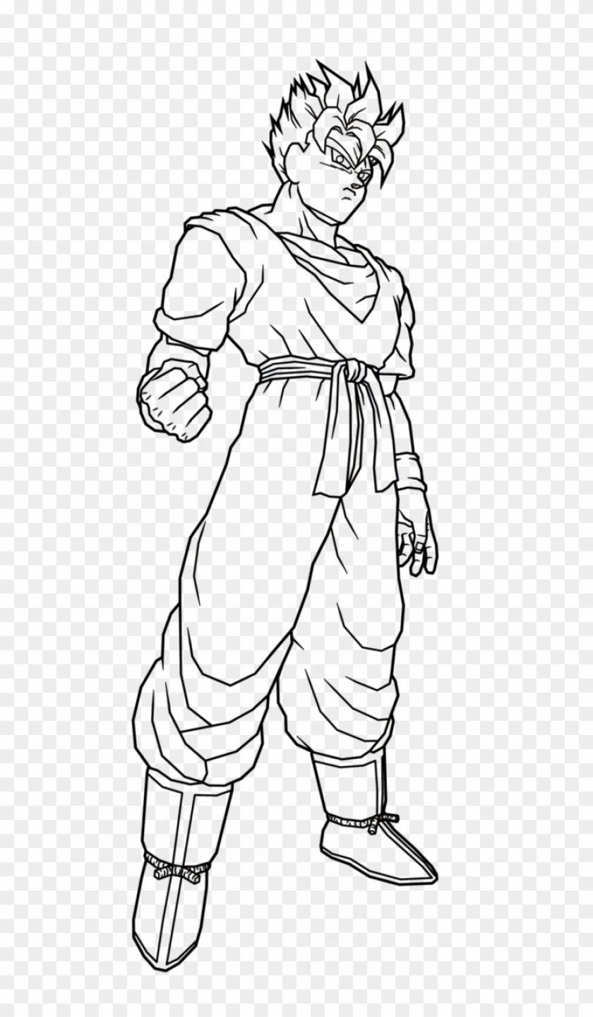 Dragon Ball Z Goten Coloring Page Coloring Pages Printable | 1439x840