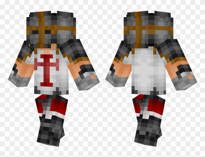 Red Crusader Minecraft Zombie Enderman Skin Hd Png