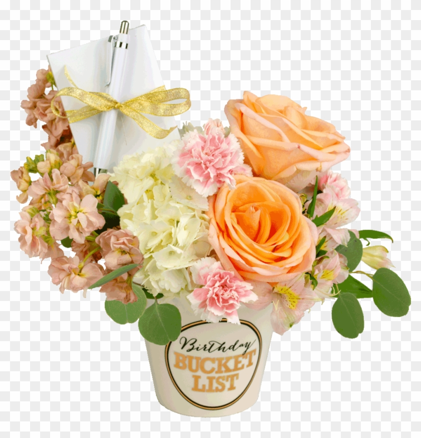 Pastel Birthday Bucket List Bouquet Birthday Buckets Of