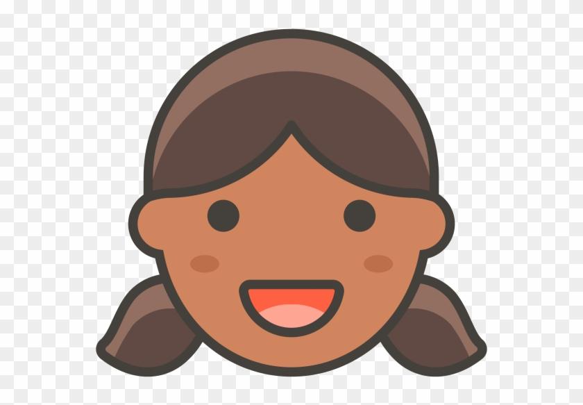 Girl Emoji - Cartoon, HD Png Download - 866x650 (#1572189