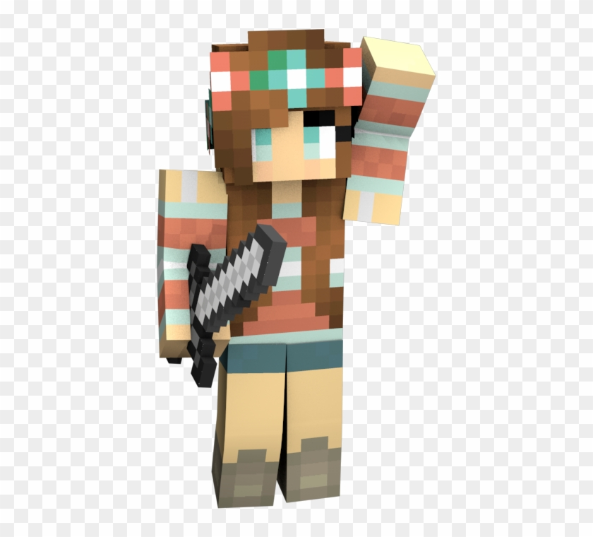 Bow Minecraft Girl Skin Minecraft Avatar People Girl Hd
