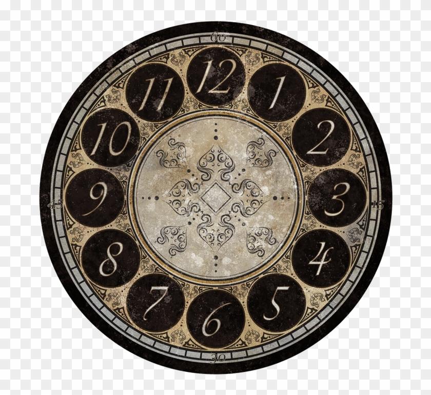 Clock Face - Antique - Clock, HD Png Download - 713x713