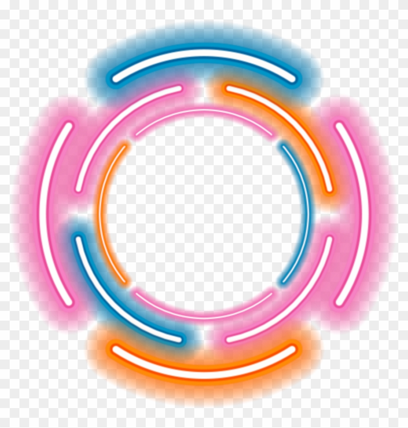 neon #lights #light #frame #circle #ftestickers #colorful