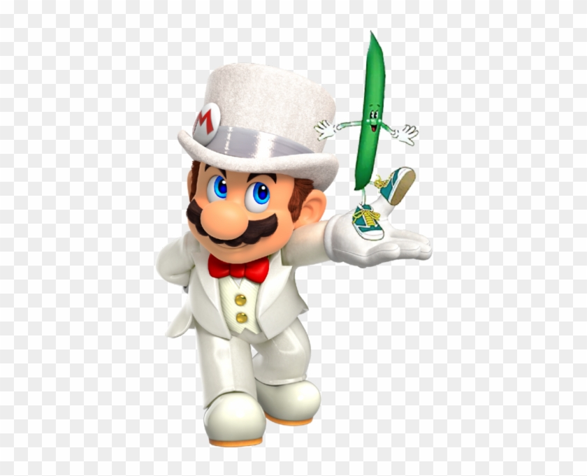 I Made A Png Of Smo Mario Holding The Bean Super Mario Odyssey