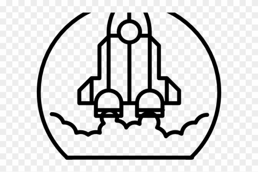 Drawn Rocket Rocket Ship - Rocket Outline Png, Transparent
