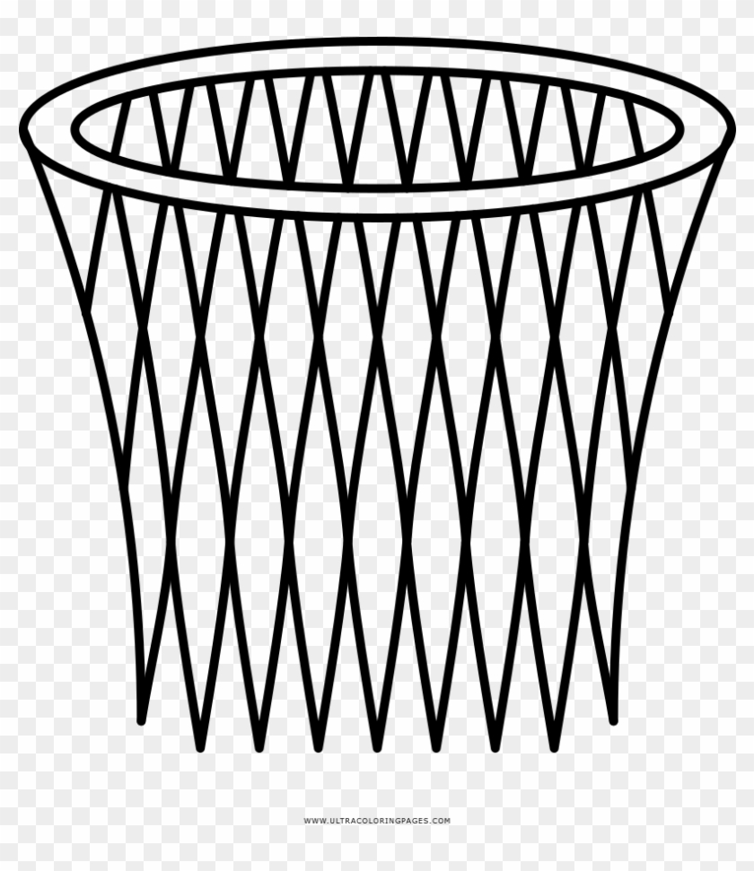 Basketball Hoop Coloring Page End