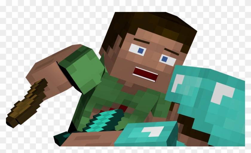 Minecraft Steve Render Wallpaper Hd Png Download 2560x1440