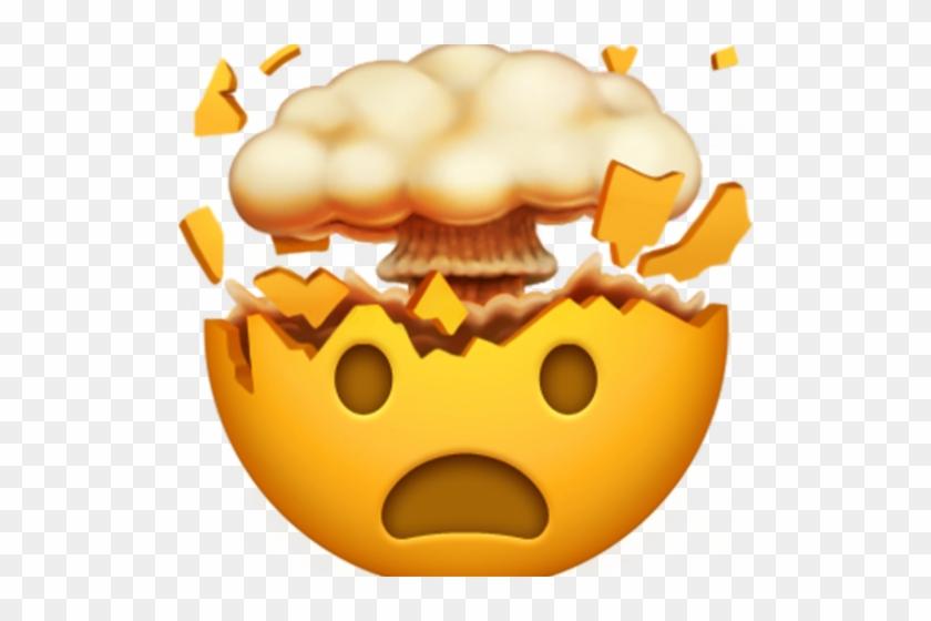 Hand Emoji Clipart Emoji Faces - Apple Mind Blown Emoji, HD