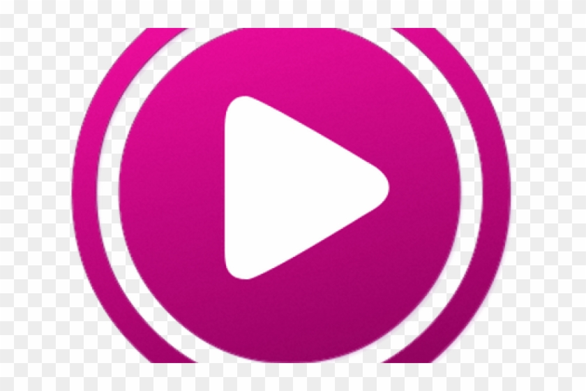 Youtube pink. Play button clipart circle