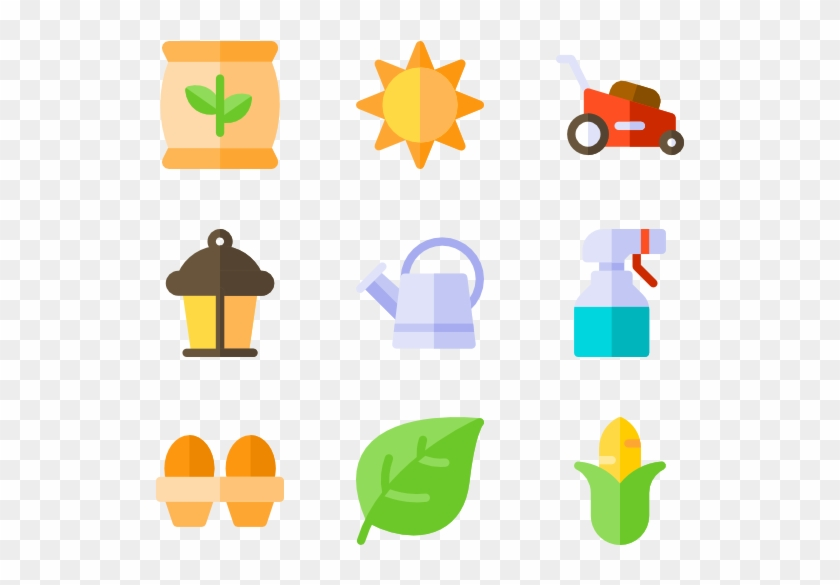 Banner Stock Agriculture Icons Free Vector Gardening Hd Png Download 600x564 1924919 Pinpng