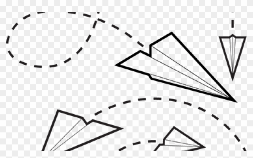 Flying Paper Plane Clipart Png Download Paper Airplane