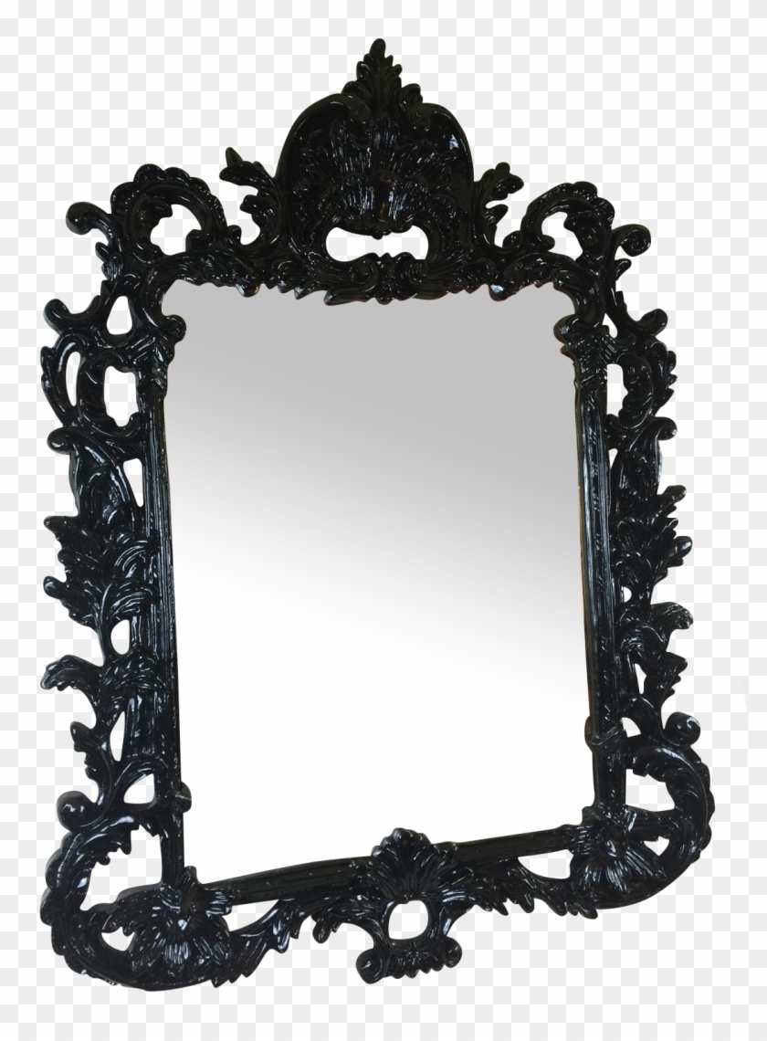 Black Lacquered Ornate Mirror On Chairish Picture Frame Hd Png Download 1121x1468 1954126 Pinpng