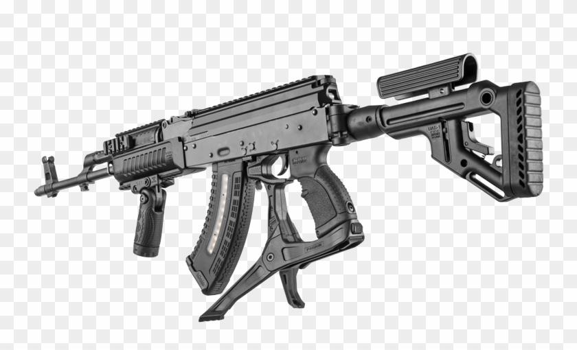 1879 Ak Podium Weapon Open 3d Rear Png - Fab Defense Ak