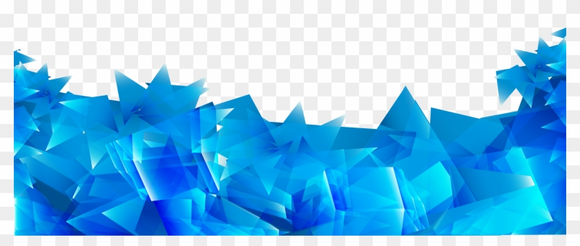 Blue Irregular Geometry Abstract Prism Vector Clipart
