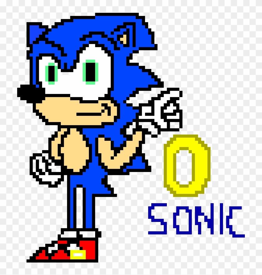 Sonic Pixel Art - Cartoon, HD Png Download - 1060x900