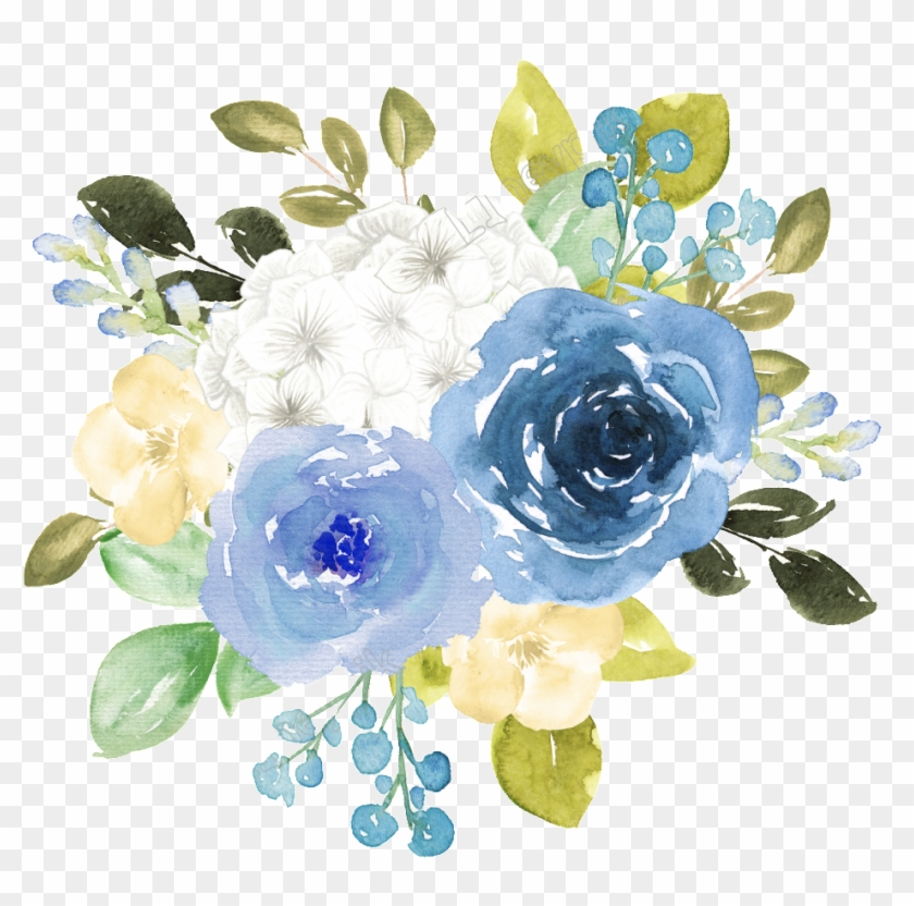 Blue Watercolor Flowers Blue Flower Watercolor Png