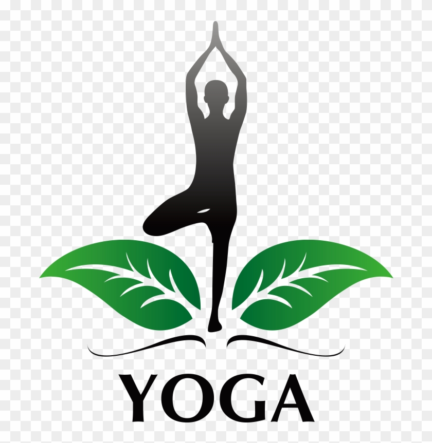 Tree Pose Green Leaves Yoga Logo Design Png Transparent Yoga Logo Png Download 747x820 2113017 Pinpng