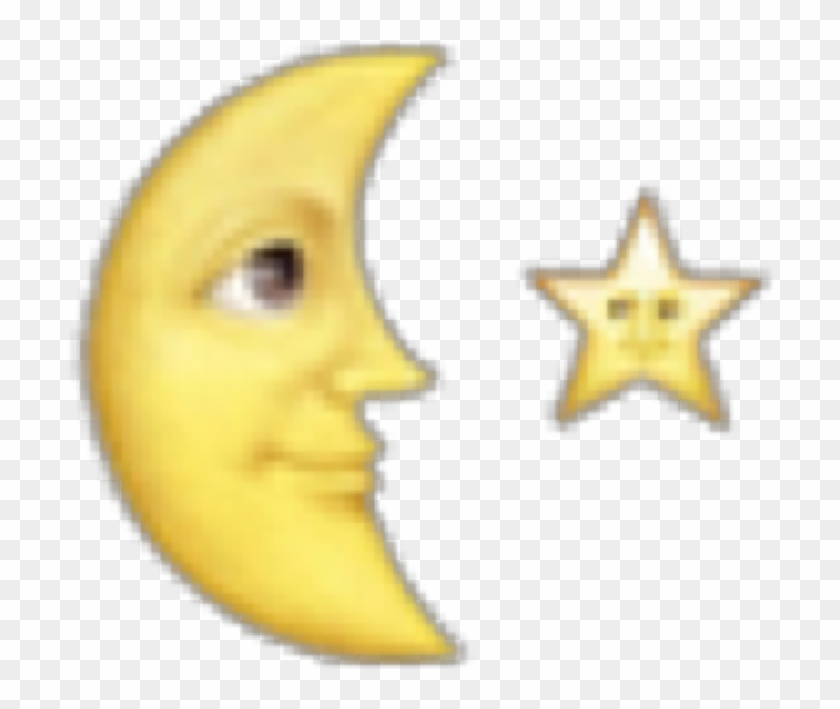 Emojisticker Halfmoon Star Overlay - Iphone Emoji Png Edit