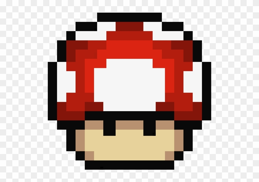 Mario Mushroom Mario Mushroom Pixel Hd Png Download 570x580