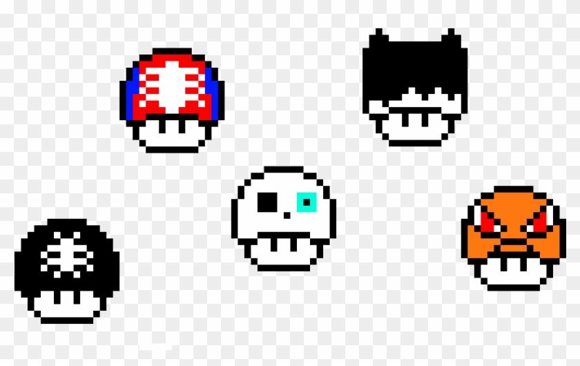 Some Mario Custom Mushrooms Custom Mario Mushroom Pixel Art Hd Png Download 1030x640 227736 Pinpng