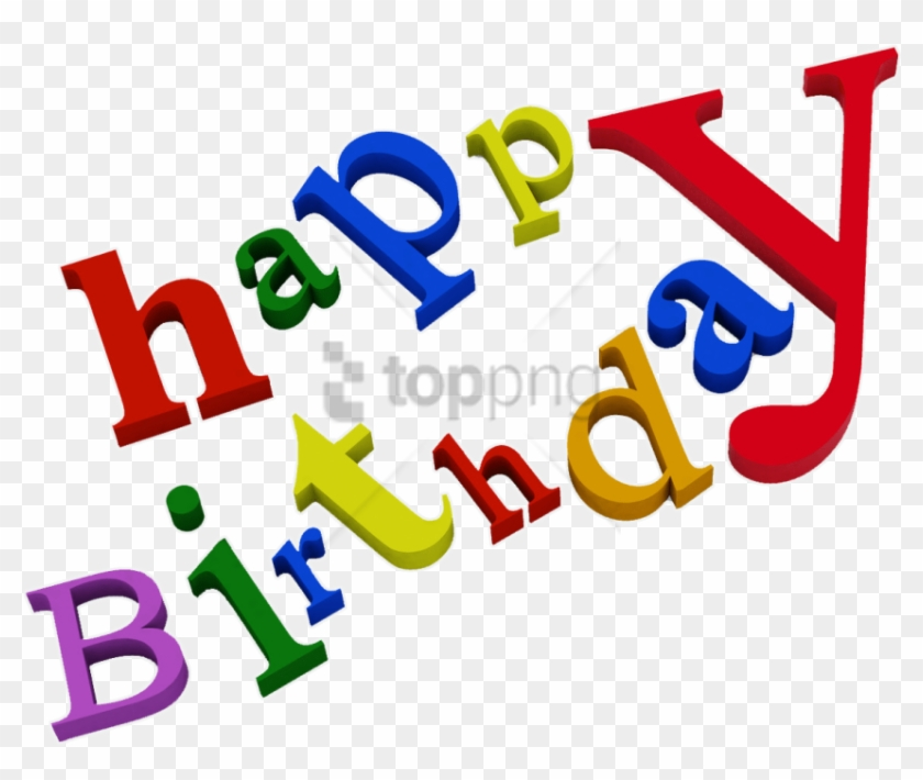 Download Happy Birthday Words Png Images Background - Happy