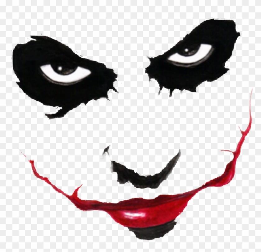 Joker Sticker Draw Joker Face Easy Hd Png Download