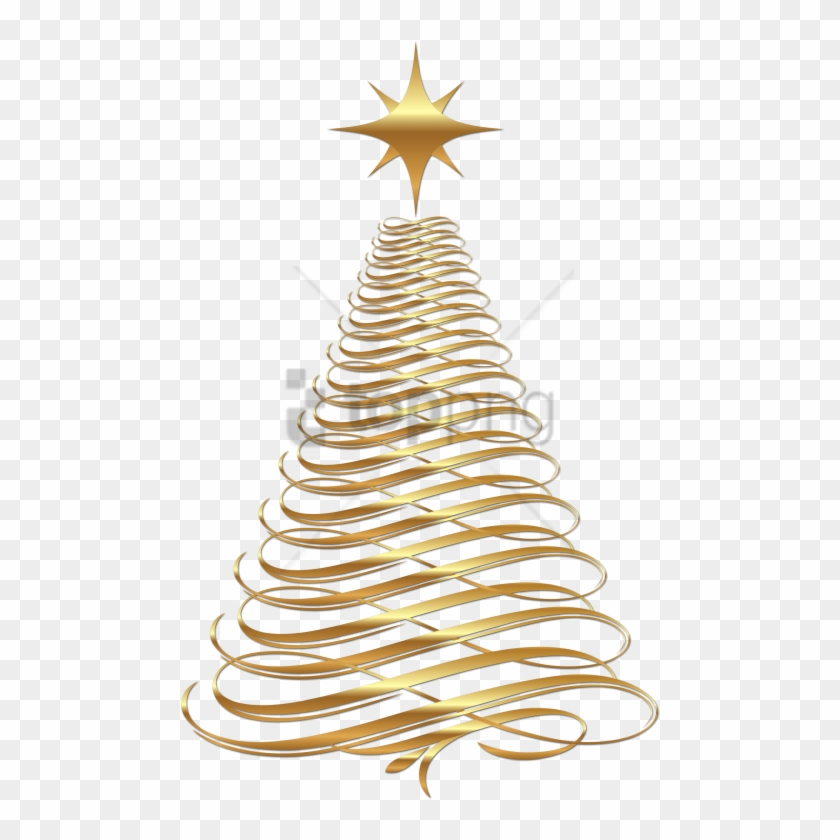 Christmas Tinsel Transparent Background.Free Png Gold Christmas Tree Transparent Background Gold