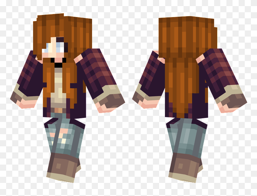 Lumberjack Girl Hair Guys Minecraft Skins Hd Png Download