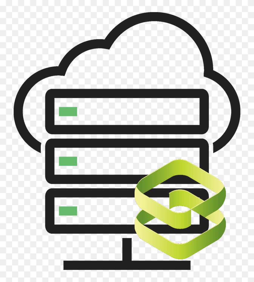 Cloud Server Load Balancer - Cloud Server Icon Png Free