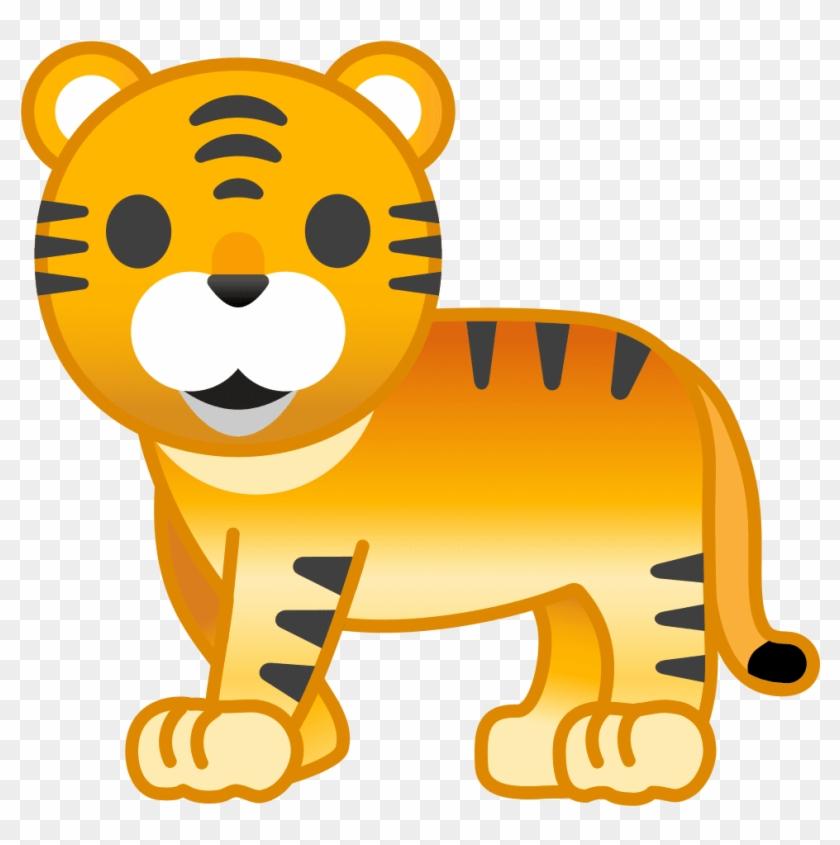 Tiger Emoji - Whatsapp Tiger Emoji, HD Png Download