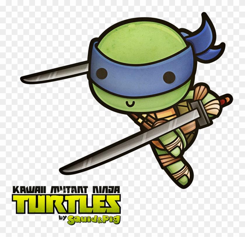 Teenage Mutant Ninja Turtles Leonardo Chibi Hd Png Download