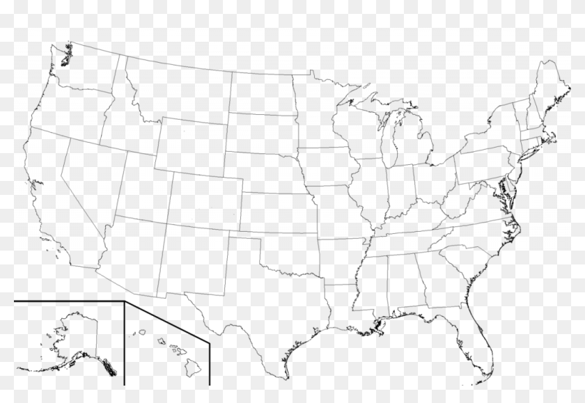 Usa Transparent Outline United States Huge Freebie - High ...
