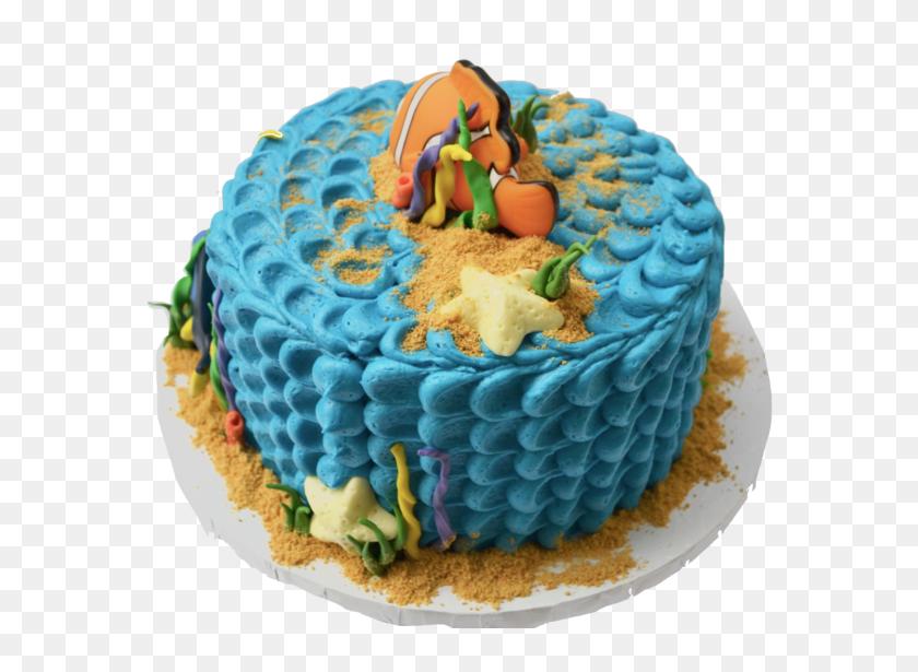 Finding Nemo Chocolate Cake With Blue Icing, Orange