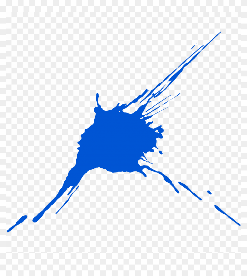 Blue Paint Splash Png Png Image With Transparent Background