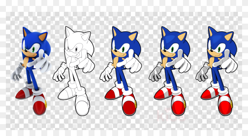 sonic the hedgehog coloring pages vector