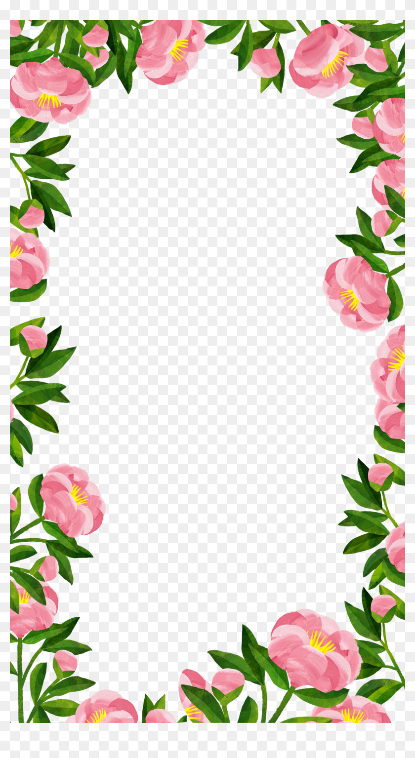 Snapchat Filters Clipart Floral - Garden Roses, HD Png