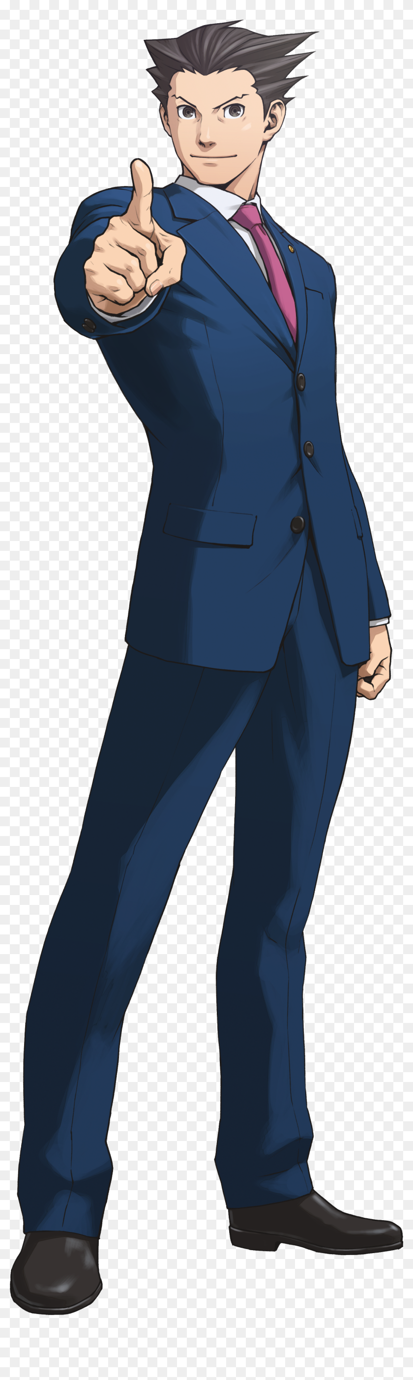 Ace Attorney Png Phoenix Wright Heroes Transparent Png