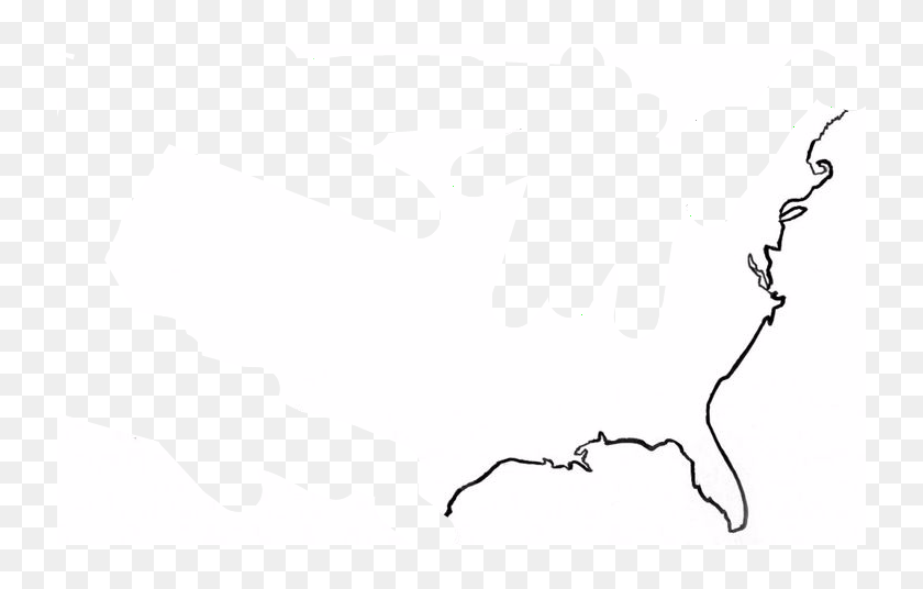 United States Map Outline - High Resolution United States ...